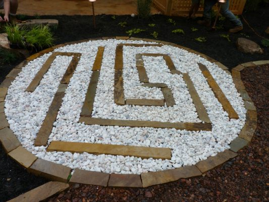 landscape white stone design enhancement