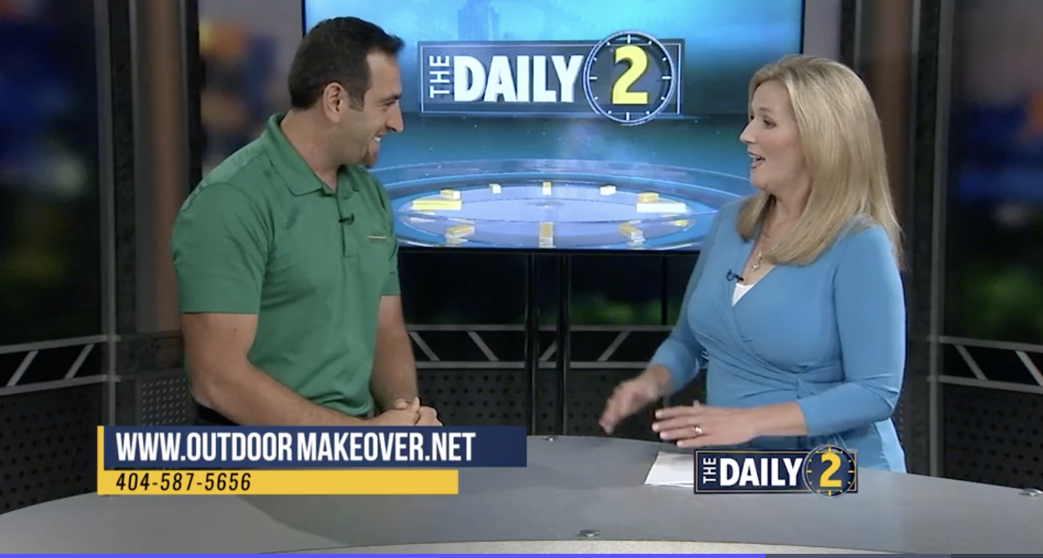 Outdoor Makeover & Living Spaces landscape designer on The Daily 2 on WSB-TV