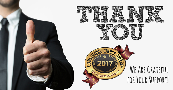 2017 Consumer Choice Award: Thank You