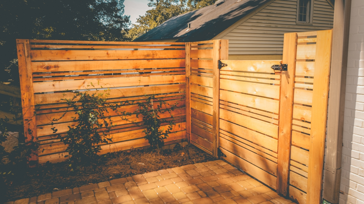 wood gate privacy fence