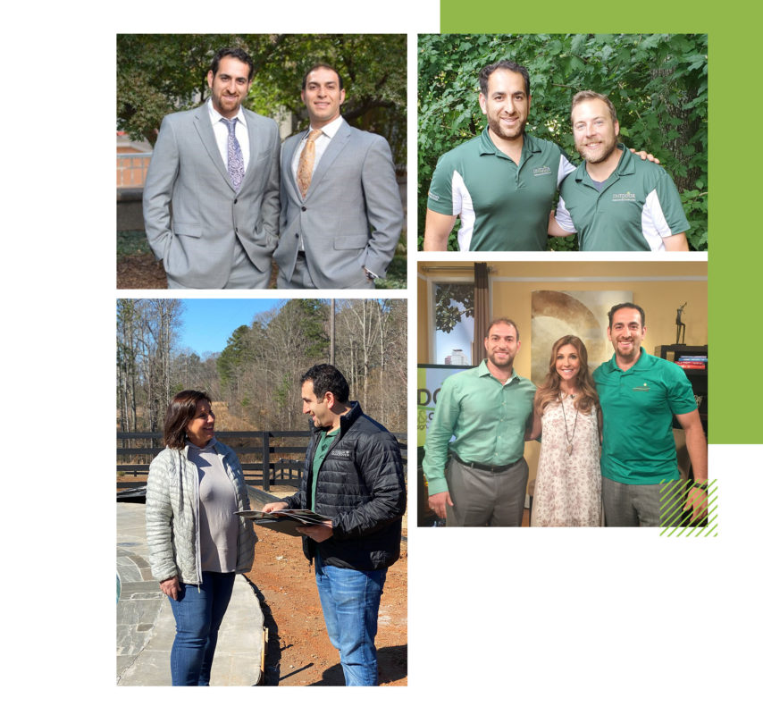 Outdoor Makeover and Living Spaces design team members and customers