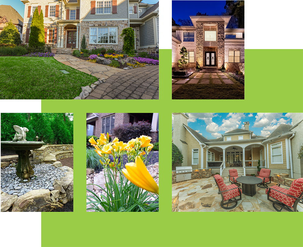 outdoor landscaping, lightscaping, and outdoor living spaces
