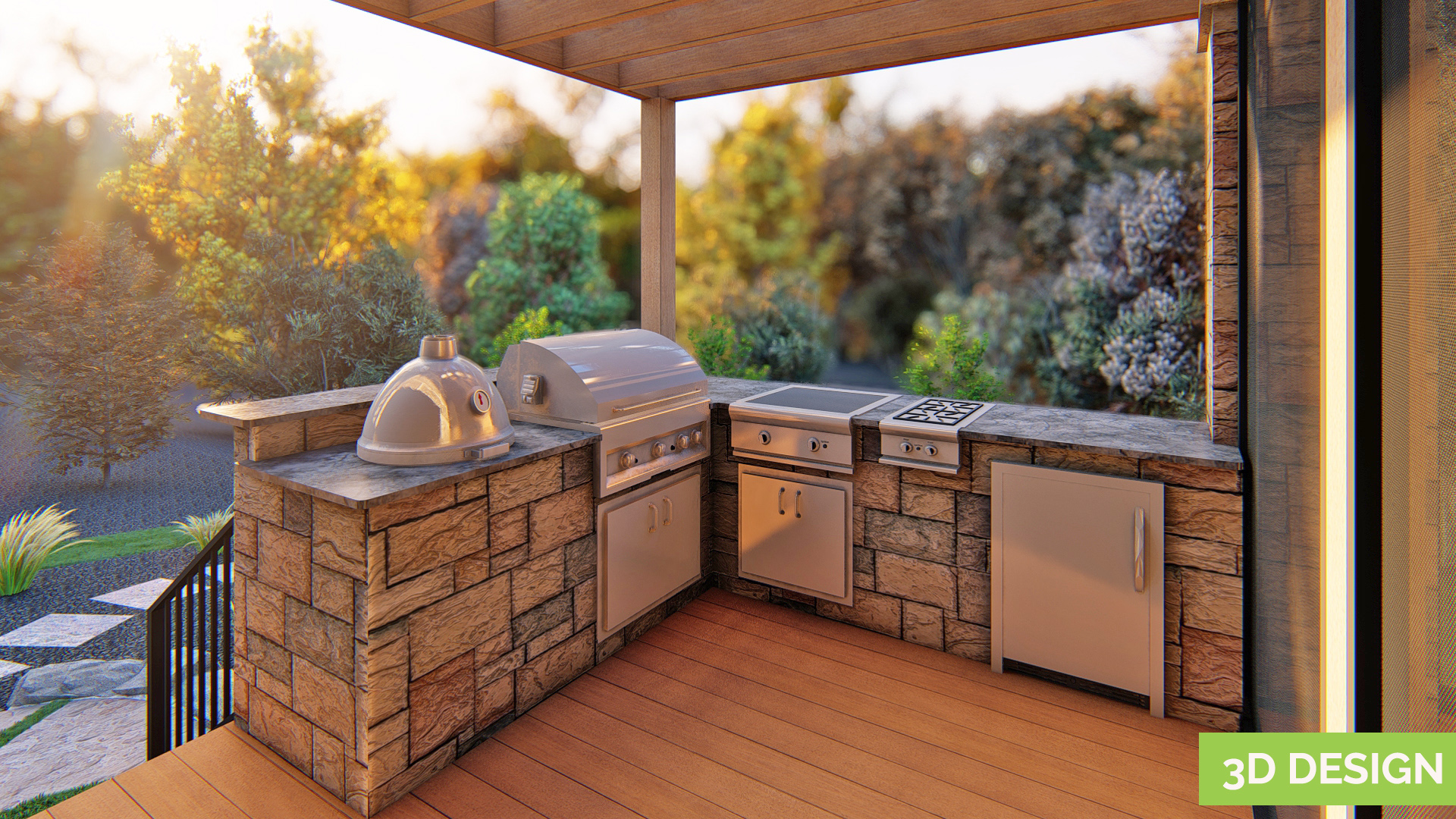 outdoor kitchen makeover designs