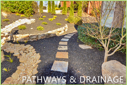 pathways and drainage from outdoor makeover