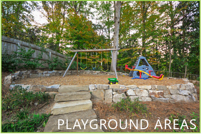 playground areas from outdoor makeover