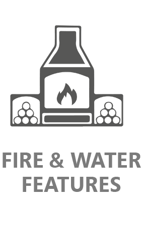 fire and water features icon