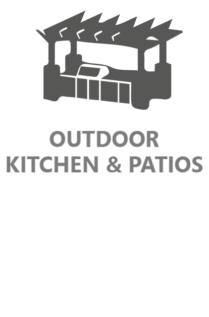 outdoor kitchen and patios icon