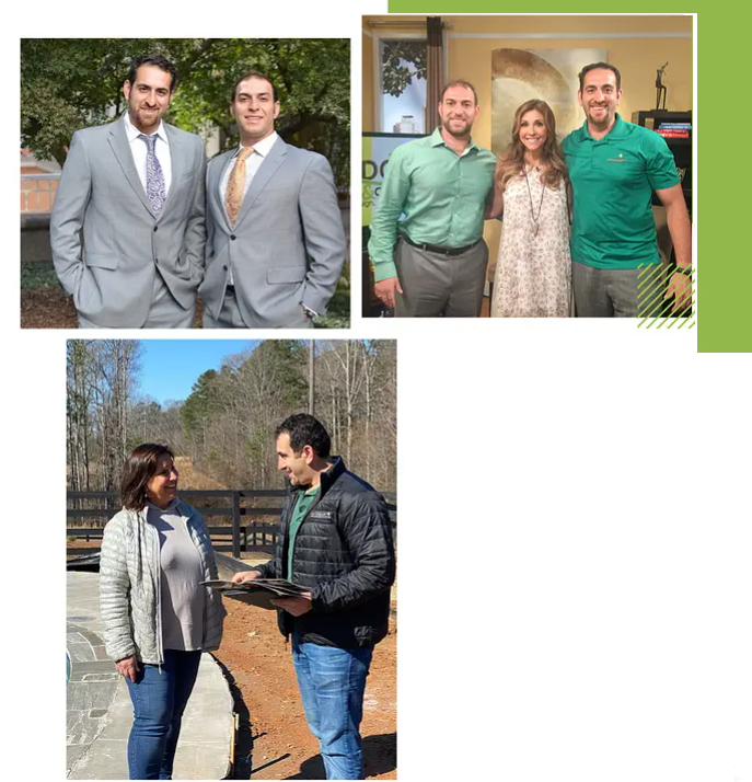 navid and outdoor makeover design team